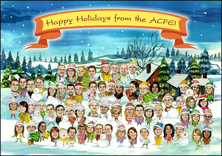 The largest group caricature we have done was a Christmas card with 75 people. If you need a quote for a large group, read next question.